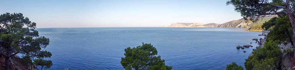 панорамный вид черноморское побережье