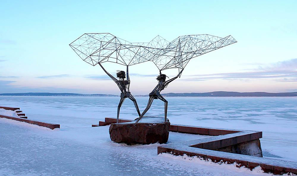 карелия петрозаводск онежское озеро рыбаки зима