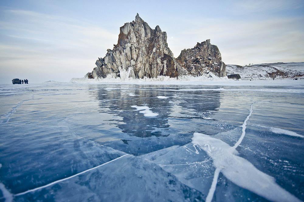 озеро байкал лед зима ольхон