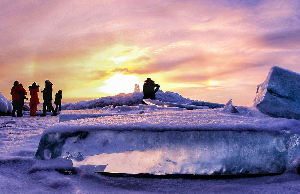 озеро байкал февраль лёд