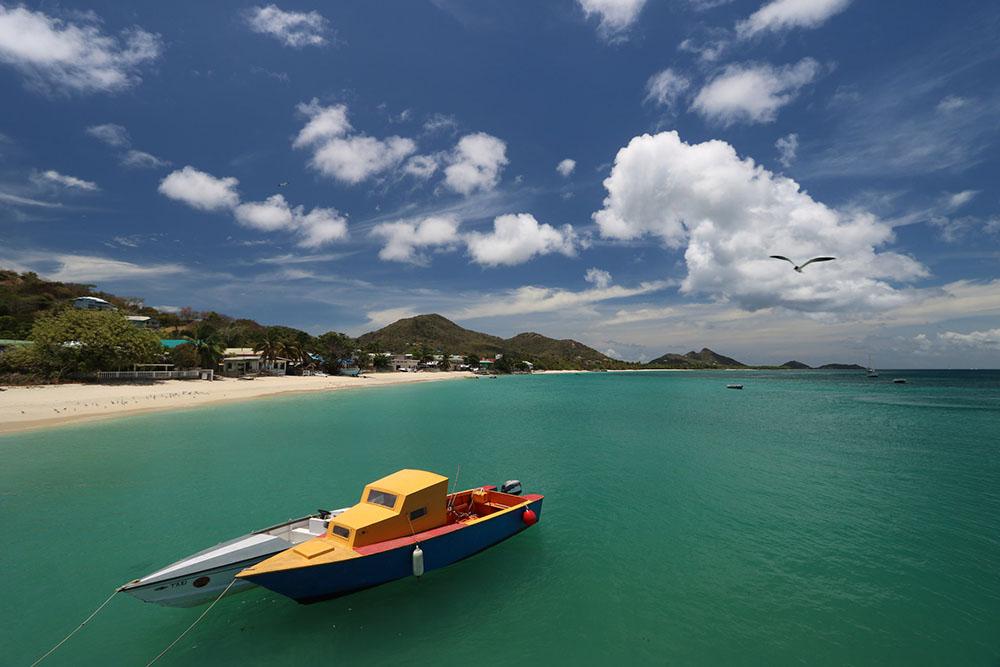 гренада провинция святой патрик море катер лодка пляж