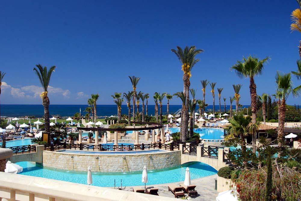 кипр город пафос бассейн отель пальмы