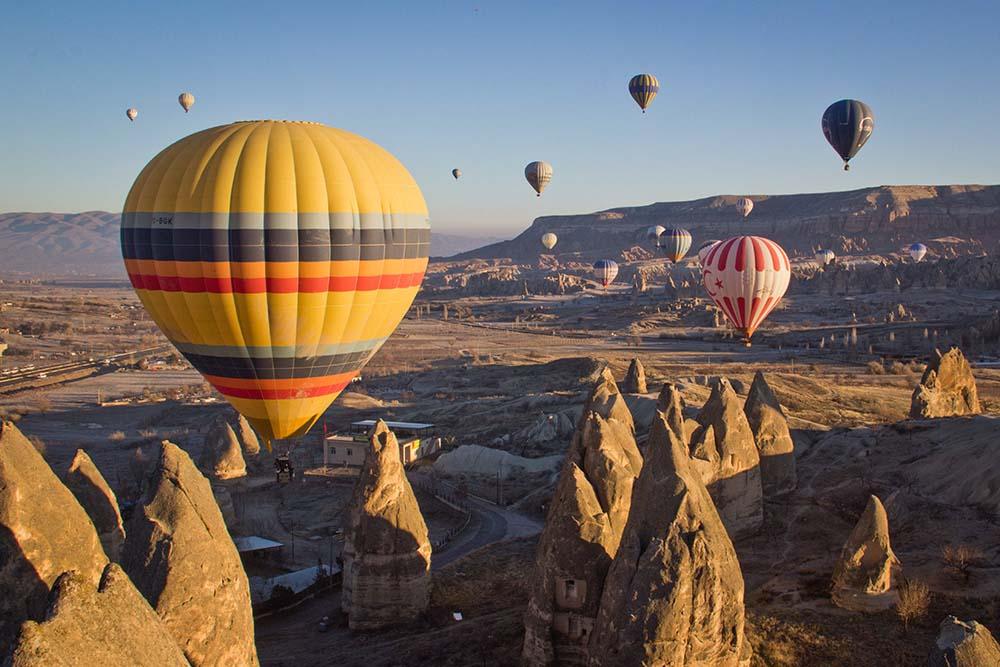 каппадокия парашюты горы