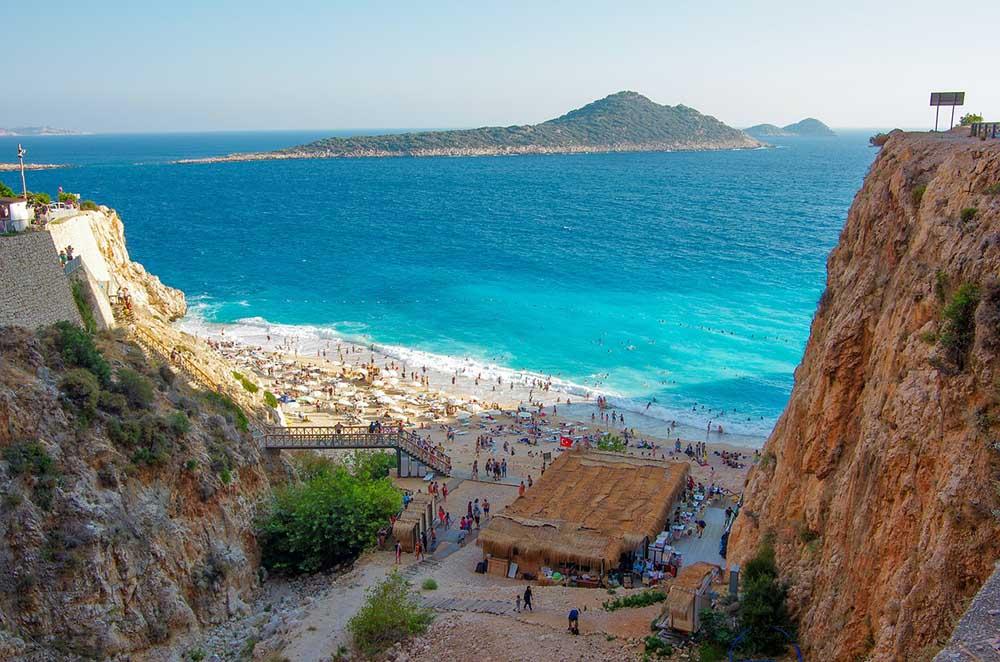 анталья пляж гора море анталия